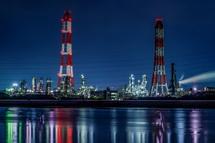塩浜地区の工場夜景