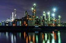 大正橋の工場夜景