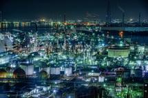 うみてらす14からの工場夜景