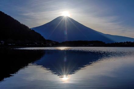 無事にダブルダイヤモンド富士が撮れた