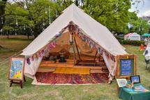 リフレクソロジーを行うテント