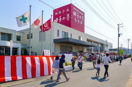 大賑わいの田子の月本社工場大感謝祭