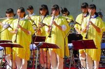 地元高校吹奏楽部による演奏