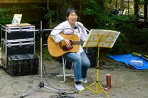村瀬きょうこさんのミニライブでは身延線鉄道唱歌の演奏も
