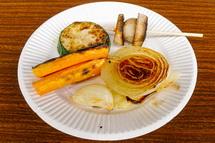 地元有機野菜の焼き物