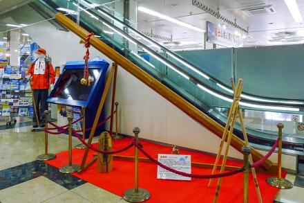 大きな金剛杖の展示