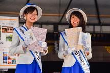 市長とともに登場した現ミス富士山