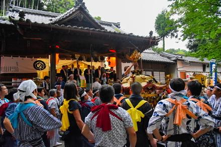 八坂神社での神事