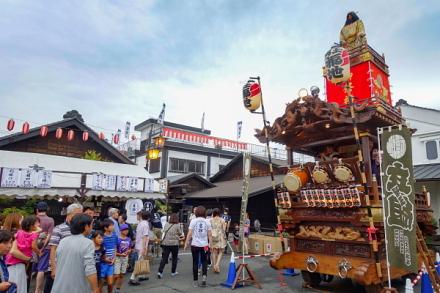 富士宮まつりの山車が登場