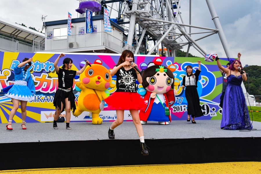 イベント開催の富士川SA