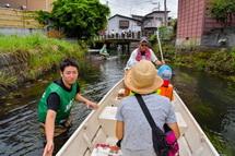 船上からの田宿川の風景