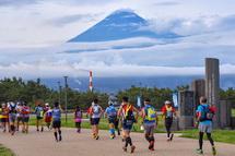 スタート時に富士山が姿を見せた