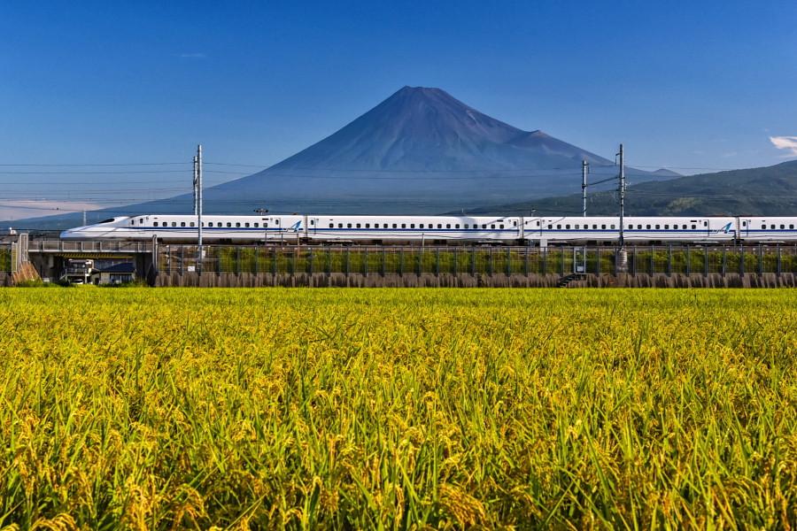 富士山と新幹線の風景が撮れる人気スポット