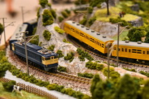 鉄道模型の展示・走行