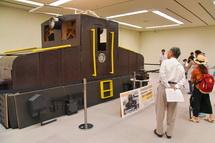実物大ダンボール機関車展示