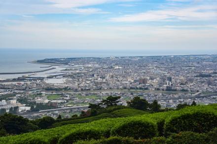 笛吹段公園からの焼津市街の眺め