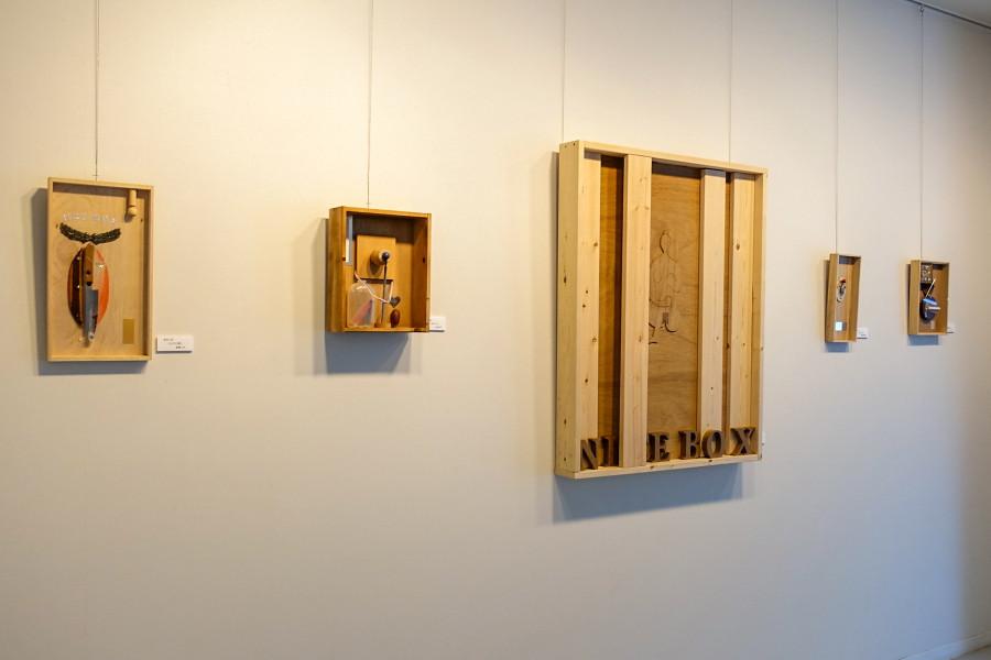 「もなこさんと渡辺和彦ボックスアート展」開催の富士山環境交流プラザ