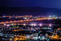 大井川両岸の夜景