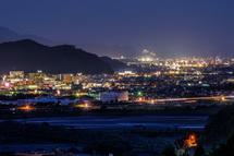 藤枝・焼津方面の夜景も