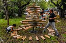 竹かぐやに火を灯す