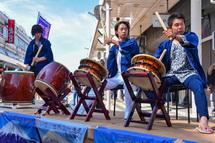 吉原祇園太鼓の演奏