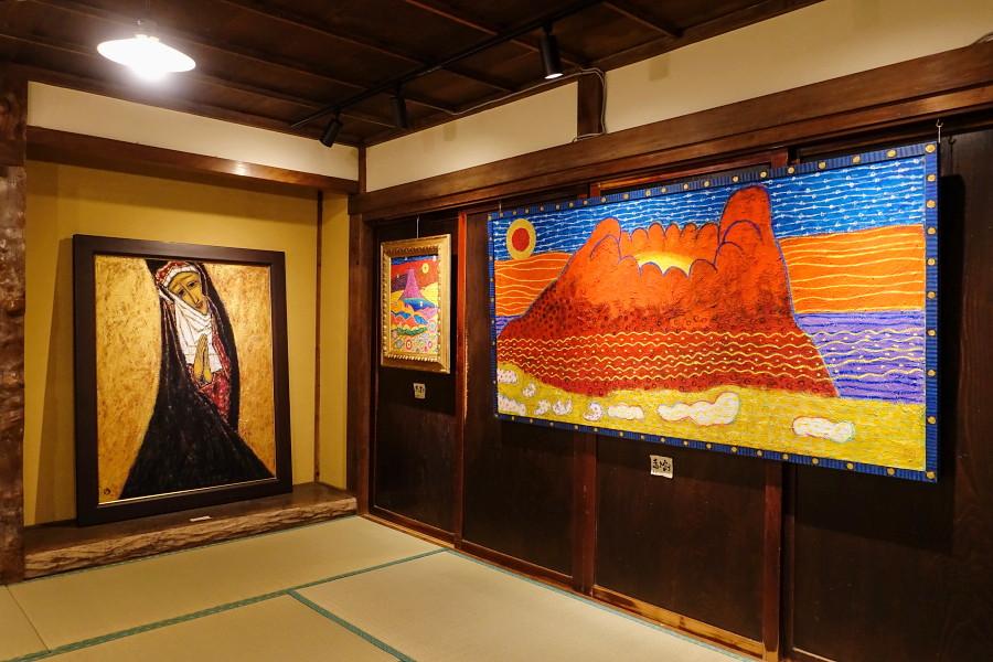 福島恵美子アクリル画展開催のspace Wazo