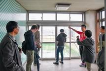 角田ビルの見学風景
