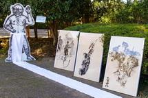 ユニークなアート作品の展示