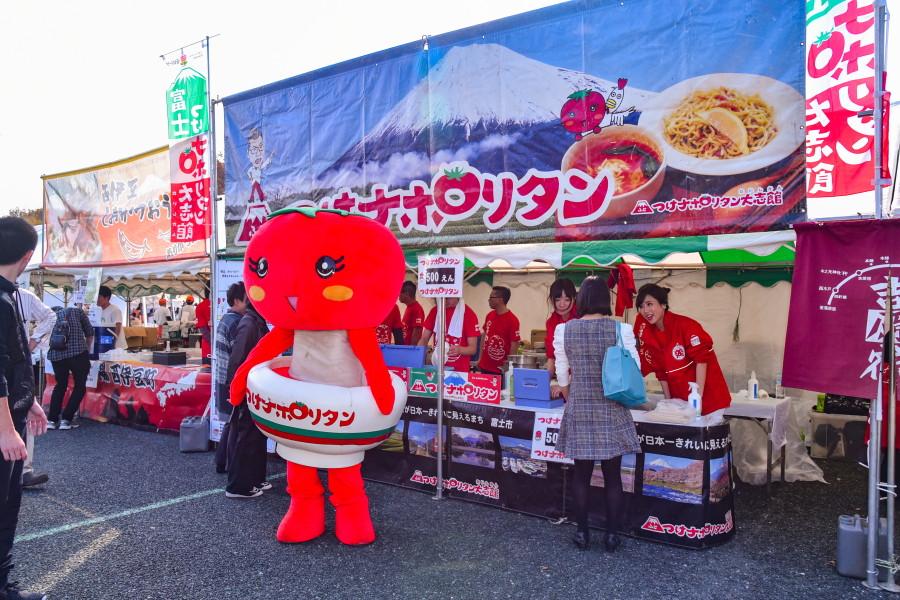 富士つけナポリタンのブース