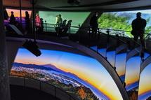 富士登山を疑似体験できる映像