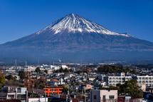 展望ホールからの富士山の眺め