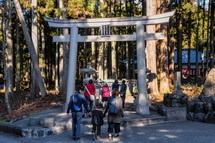 山宮浅間神社の初詣風景