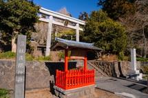 村山浅間神社の初詣風景
