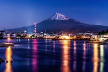 田子の浦港からの富士山