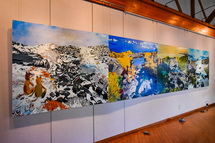 掛川城周辺の展示作品