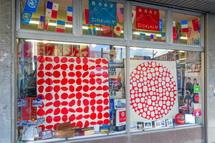 掛川市街の店舗の展示作品