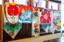 各地の和凧を展示販売