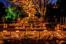 素敵な竹灯り