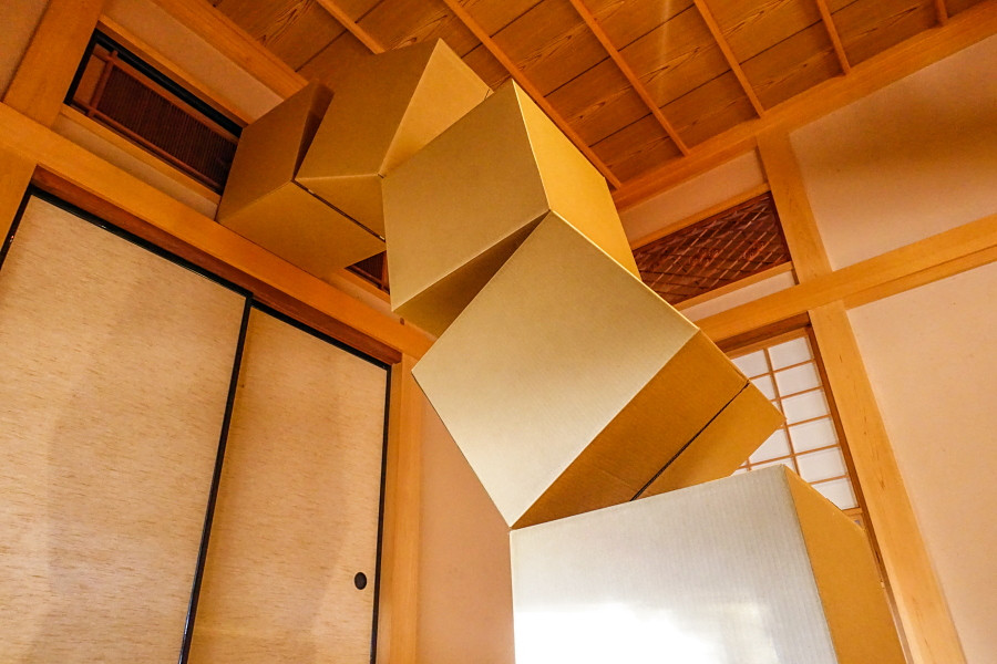 漆畑勇司さんの個展「キューブ」開催の富士芸術村