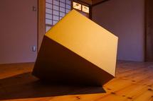 ダンボールの立方体を使った作品