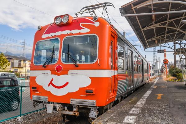 クリスマスのラッピング電車