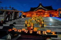 素敵な竹灯りの風景