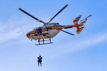ヘリコプターでの救助