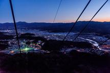 ロープウェイからの夜明けの風景