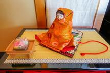 和みの輪処での雛人形展示