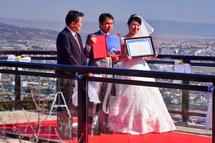 結婚証明書などの贈呈