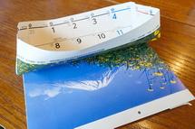 裾野市のカレンダーを使って紙バッグ作り