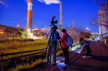 大興製紙の夜景撮影