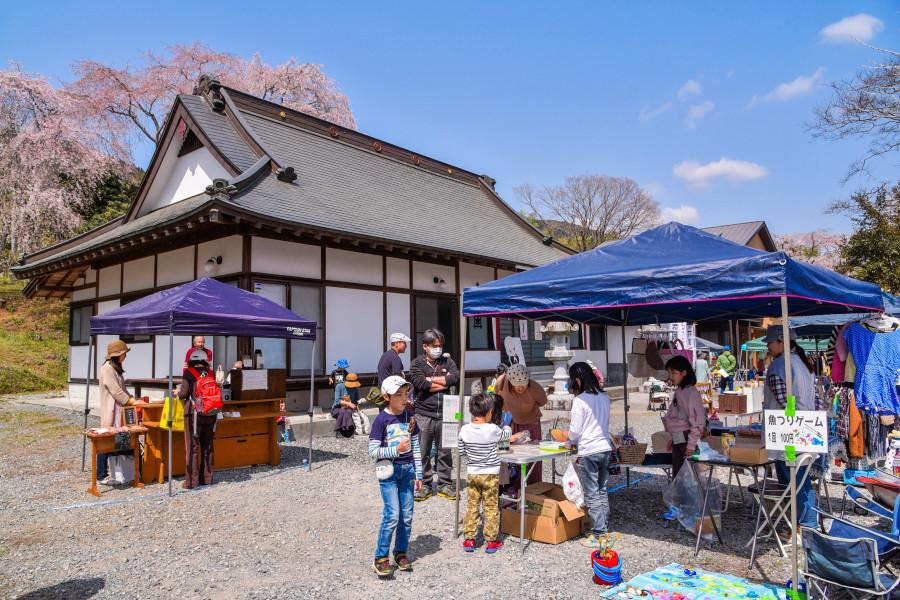 里山市場開催の妙泉寺