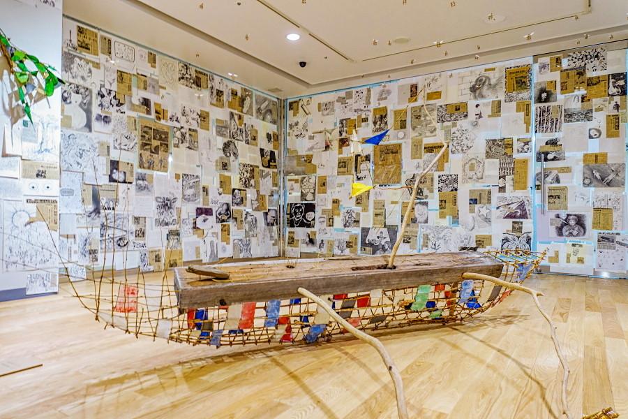 北山善夫展「歴史」開催のふじ・紙のアートミュージアム